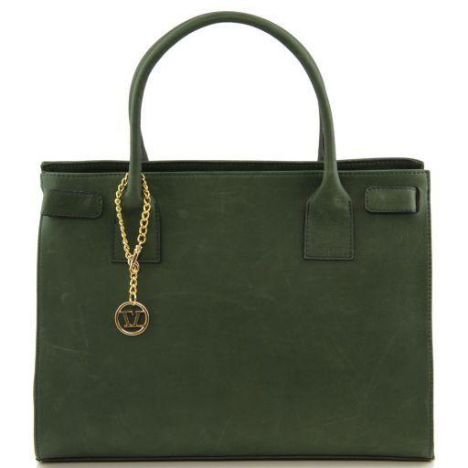 TL Bag Borsa morbida con pendente dorato Verde scuro TL141191