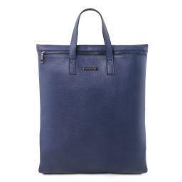 TL Bag Borsa verticale a tracolla in pelle morbida Blu scuro TL141680