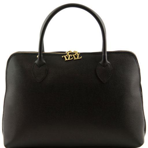 TL Bag Borsa business per donna in pelle Saffiano Nero TL141195