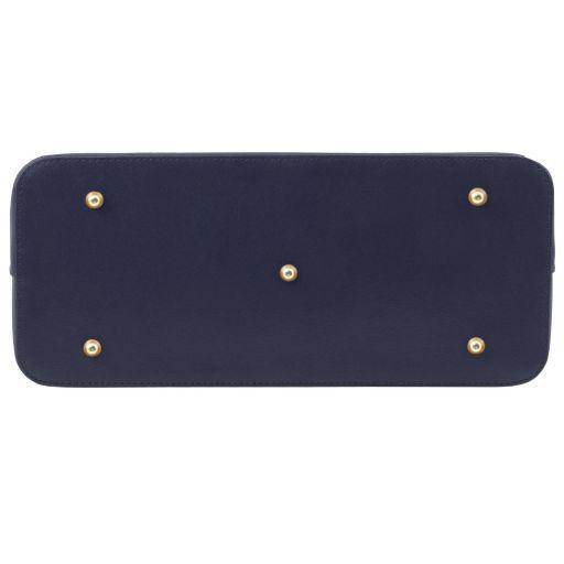 TL KeyLuck Borsa shopping in pelle Saffiano Blu scuro TL141261