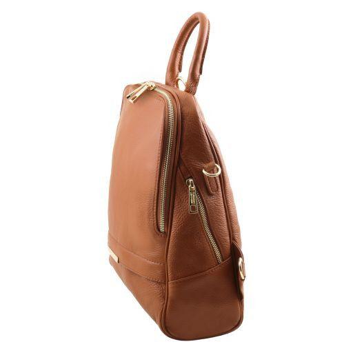 TL Bag Lederrucksack für Damen aus weichem Leder Cognac TL141376