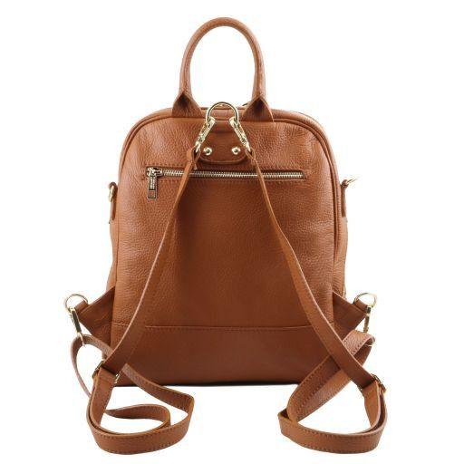 TL Bag Soft leather backpack for women Cognac TL141376