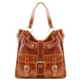Melissa Женская кожаная сумка Мед TL140928