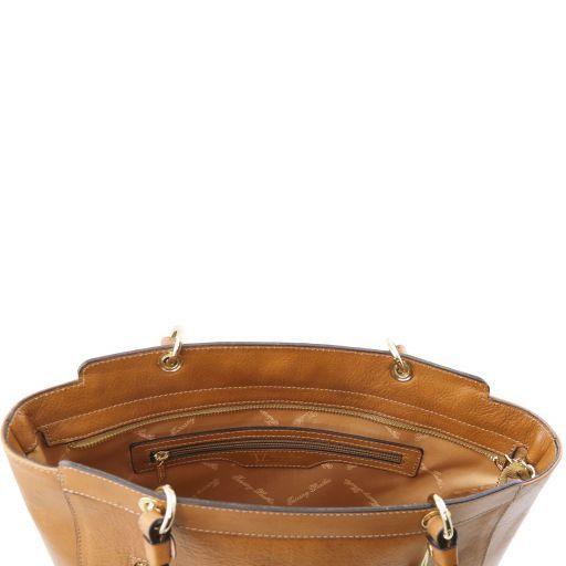 TL NeoClassic Borsa shopping in pelle con doppi manici Talpa scuro TL141231