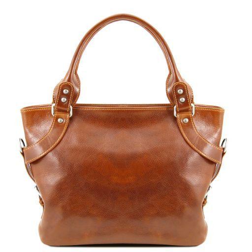 Ilenia Кожаная сумка на плечо Мед TL140899