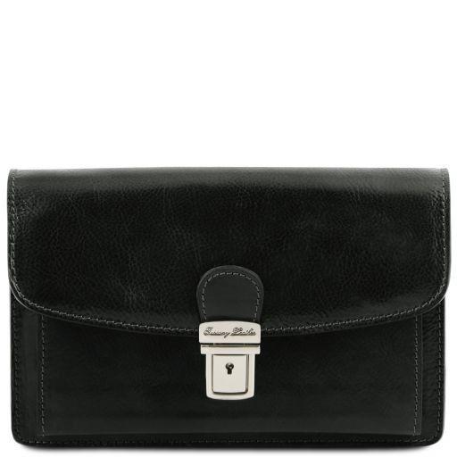 Arthur Elegante Handgelenktasche/Herrentasche aus Leder Schwarz TL141444