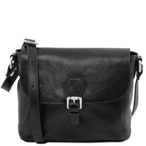 Jody Кожаная сумка на плечо с клапаном Черный TL141278