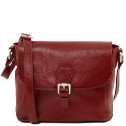 Jody Leather shoulder bag with flap Red TL141278