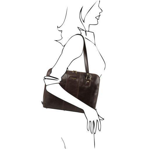 Ravenna Esclusiva borsa business per donna Testa di Moro TL141277