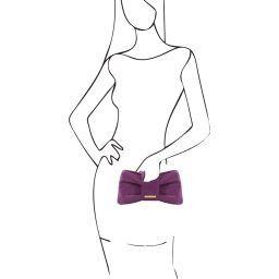 Priscilla Clutch aus Leder Purple TL141358