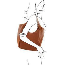 Gina Borsa shopping donna in pelle Cognac TL141357