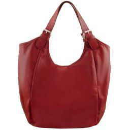 Gina Borsa shopping donna in pelle Rosso TL141357