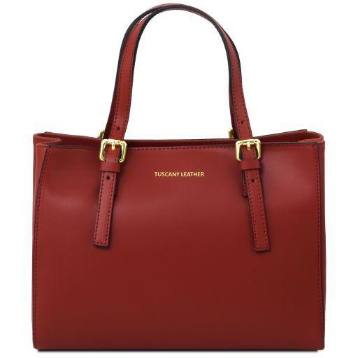 Aura Leather handbag Red TL141434