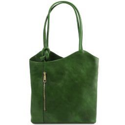 Patty Borsa donna in pelle convertibile a zaino Verde TL141497
