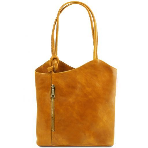 Patty Leather convertible bag Yellow TL141497