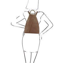 Shanghai Рюкзак из мягкой кожи Темный серо-коричневый TL140963