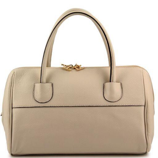TL Bag Bauletto in pelle con accessori oro Beige TL141210