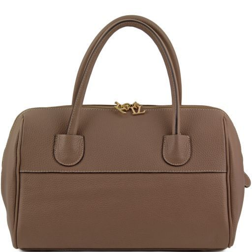 TL Bag Bauletto in pelle con accessori oro Talpa chiaro TL141210
