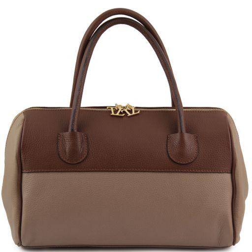 TL Bag Кожаная сумка-даффл с золотистой фурнитурой Многоцветный 2 TL141210