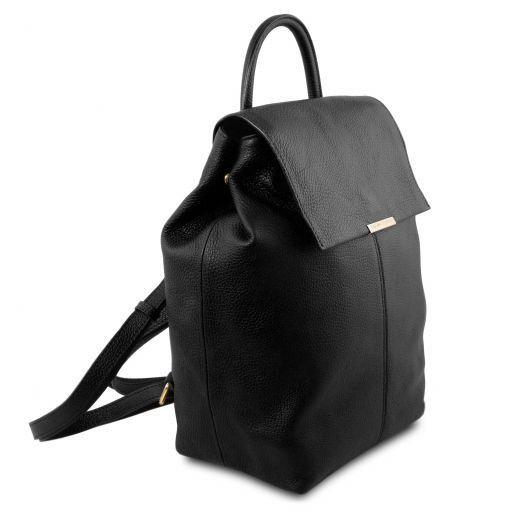 TL Bag Zaino donna in pelle morbida Nero TL141706