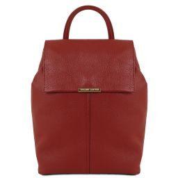 TL Bag Sac à dos pour femme en cuir souple Rouge TL141706