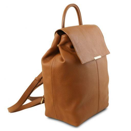 TL Bag Zaino donna in pelle morbida Cognac TL141706