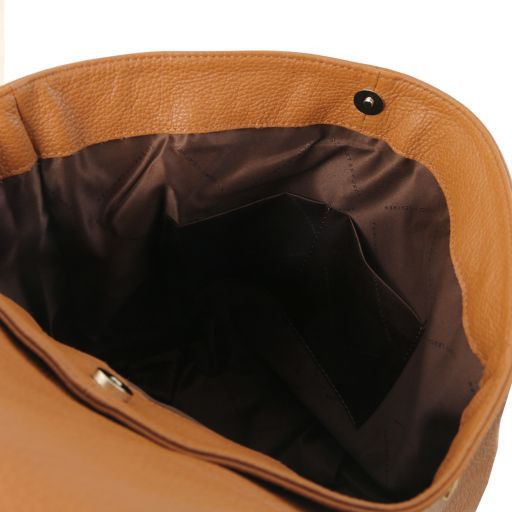 TL Bag Mochila para mujer en piel suave Cognac TL141706