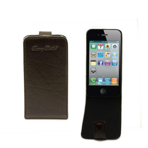 Cover iPhone4/4s in pelle Testa di Moro TL141212