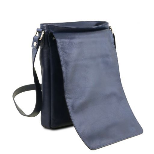 Cesare Bolso en piel suave con bandolera Azul oscuro TL141723