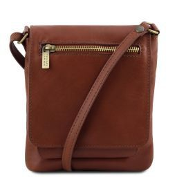 Sasha Unisex soft leather shoulder bag Brown TL141510