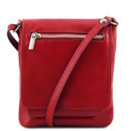 Sasha Unisex soft leather shoulder bag Red TL141510