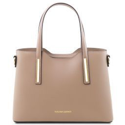 Olimpia Shopper Tasche aus Leder - Klein Dunkel Taupe TL141521