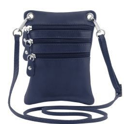 TL Bag Soft leather mini cross bag Dark Blue TL141368