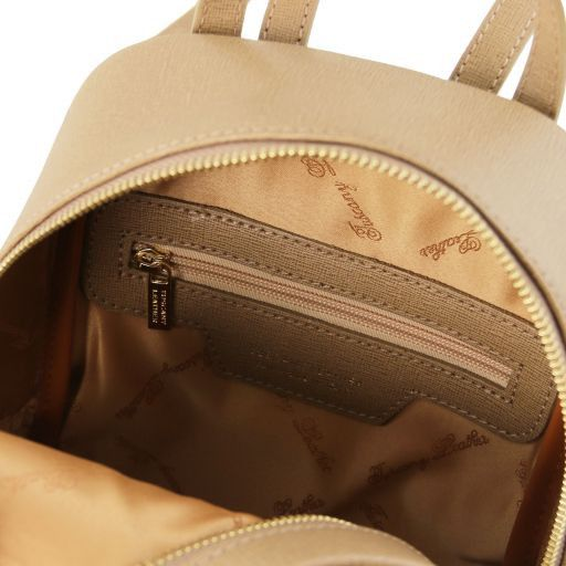 TL Bag Zaino piccolo in pelle Saffiano da donna Caramello TL141701
