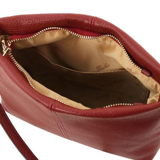 TL Bag Sac bandoulière en cuir souple Rouge TL141720