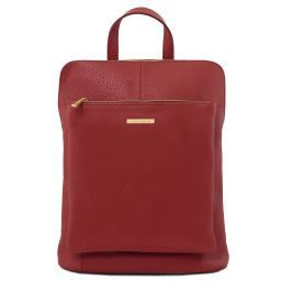 TL Bag Sac à dos pour femme en cuir souple Rouge TL141682