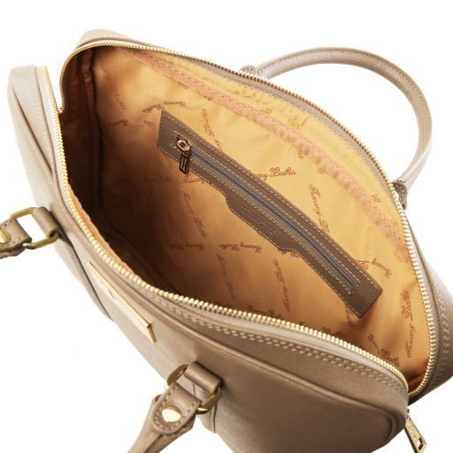Prato Exclusive Saffiano leather laptop case Caramel TL141626