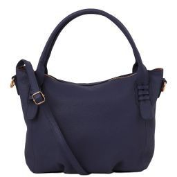 TL Bag Borsa a mano in pelle morbida Blu scuro TL141705