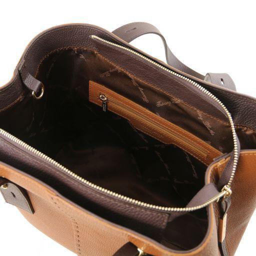 TL Bag Leather shopping bag Cognac TL141730
