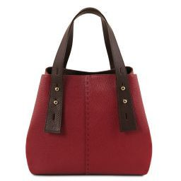 TL Bag Leather shopping bag Red TL141730