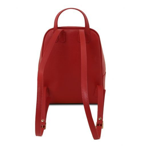 TL Bag Kleiner Damenrucksack aus Saffiano Leder Rot TL141701