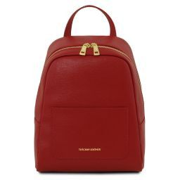 TL Bag Small Saffiano leather backpack for woman Red TL141701