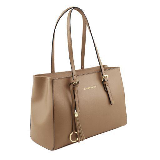 TL Bag Saffiano leather handbag Caramel TL141518