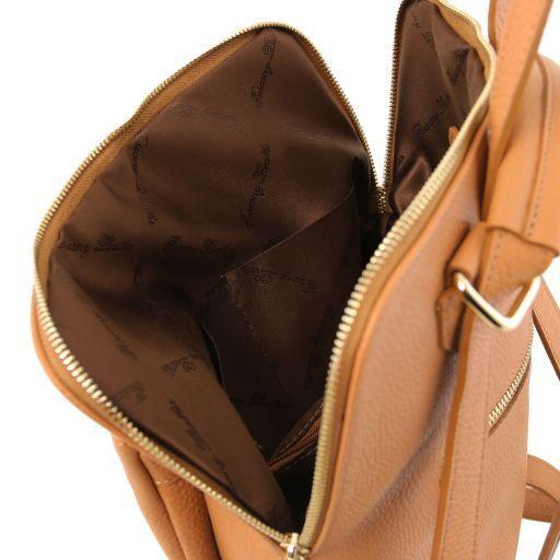TL Bag Zaino donna in pelle morbida Cognac TL141682