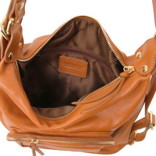TL Bag Schultertasche aus Kalbsleder Cognac TL141535
