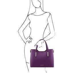 Olimpia Leather tote Фиолетовый TL141412