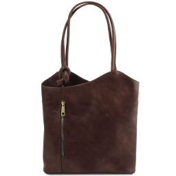 Patty Borsa donna in pelle convertibile a zaino Testa di Moro TL141497