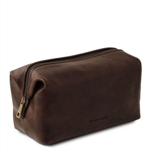 Smarty Beauty case en piel - Modelo grande Marrón oscuro TL141219