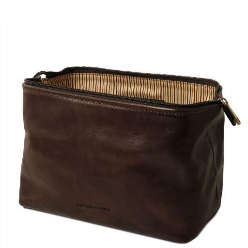 Smarty Кожаная косметичка - Малый размер Темно-коричневый TL141220