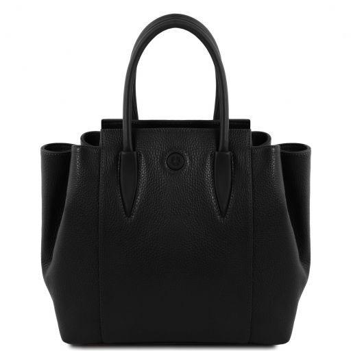 Tulipan Leather handbag Black TL141727